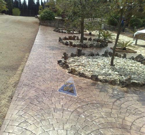 Jardin hormigon impreso abanico