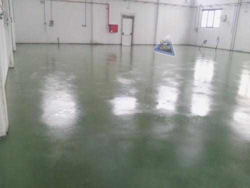 Pavimento monolitico cuarzo color verde