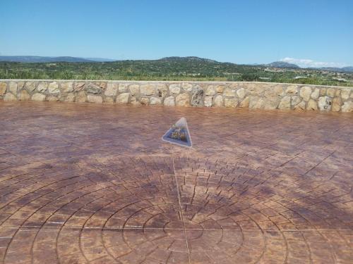 Pavimento de hormigón impreso adoquin circular